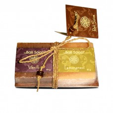 Gift Set on Coconut Wood - Vanilla & Lemongrass