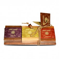 Gift Set on Coconut Wood - Vanilla. Lemongrass & Cinnamon