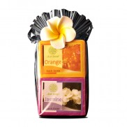 Plastic Gift Set with flower - Bali Holiday Collection -Jasmine & Orange