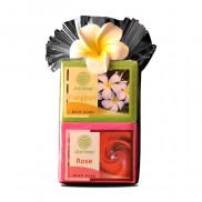Plastic Gift Set with flower - Bali Holiday Collection -Rose & Frangipani