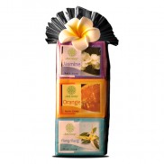 Plastic Gift Set with flower - Bali Holiday Collection -Jasmine. Ylangylang & Orange