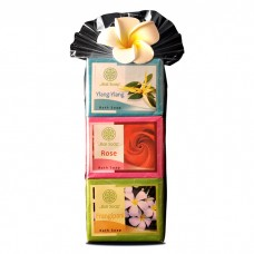 Plastic Gift Set with flower - Bali Holiday Collection -Rose.Frangipani & Ylangylang