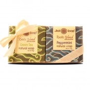 Plastic Gift Set with ribbon Exotic Island- Green Tea & Peppermint