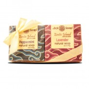 Plastic Gift Set with ribbon Exotic Island-Peppermint & Lavender